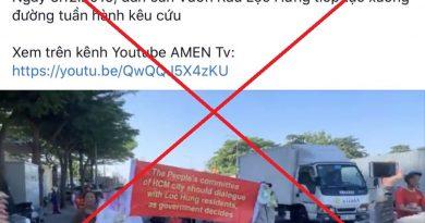 """Cảnh giác với việc lợi dụng tôn giáo để tái lấn chiếm khu đất công trình công cộng """"Vườn rau P6, Tân Bình"""""""