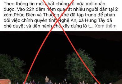 Lại chiêu trò lợi dụng dự án xây dựng công viên vĩnh hằng ở Nghệ An để kích động, chống phá